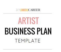The Most Affordable Business Plan for Artists! Really helpful!
