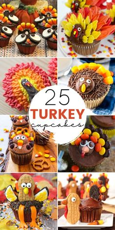 25 Easy Turkey Cupcake Ideas You Can Make For Thanksgiving