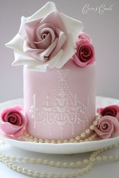 pretty pink chandelier cake This one is too cool and you dont even have to be a decorator you just buy the food cricket.