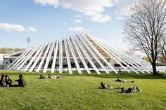 Temporary event facade for Frieze New York at Randall's Island Park. Photograph by Mark Blower. Courtesy of Mark Blower/Frieze.