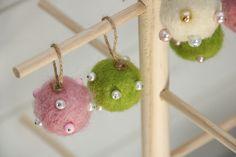 Felt Art, Christmas Decorations, Felting, Sweden, Fabric, Diy, Crafts, Manualidades, Advent Calenders