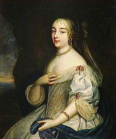 1663 or later (estimated) Gabrielle-Louise de Saint-Simon (1646-1684), duchesse de Brissac by Beaubrun Brothers studio (Versailles)