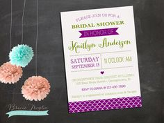 Bridal Shower Invitation  Plum & Sage by BricieTrogliaDesign, $15.00