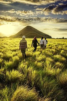 Trekking at Kenawa Island, Sumbawa  Indonesia