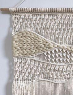 Macrame Wall Hanging Patterns, Weaving Wall Hanging, Macrame Art, Macrame Design, Macrame Projects, Macrame Patterns, Weaving Patterns, Wall Hangings, Weaving Loom Diy