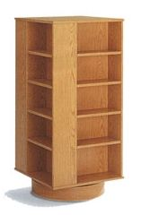 Revolving Bookshelf for those with little space in bedrooms and such. My sister has one for all the manga she owns