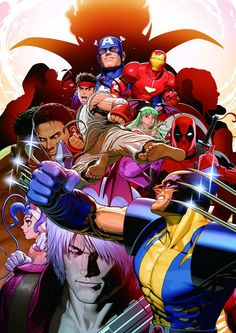 Marvel vs Capcom 3 (Capcom), artwork by Shinkiro