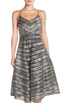 Tracy Reese 'Yelena' Beaded Fit & Flare Midi Dress available at #Nordstrom