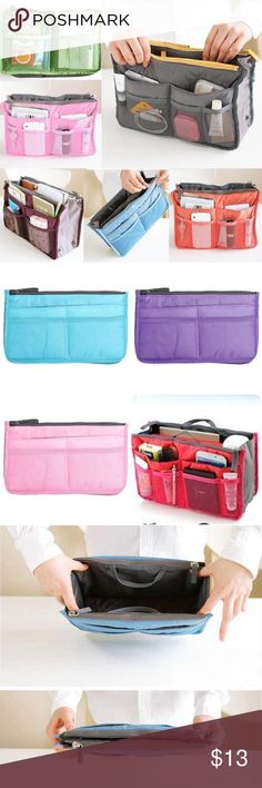 ✨New✨Organizer Travel Toiletry Cosmetic Bag Makeup ✨Brand New✨  ✨Color : Blue, Purple, Rose, Pink  ✨Size : 28 x 9 x 15.5 cm / 11.02 x 3.54 x 6.10 inch   Large Travel Toiletry Tidy Wash Cosmetic Bag Compact Makeup Storage Case Bathroom Mesh Organizer It can make your stuffs not easy to lose and make your things more orderliness. Light and soft material that good for you to take it to travel. Big enough space to place your makeup stuffs inside the bag, and nice design can divide your little…