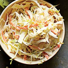 A mixture of spices is the key to Memphis Slaw that's combined with mayo and tossed with coarsely chopped cabbage, green bell pepper, and...