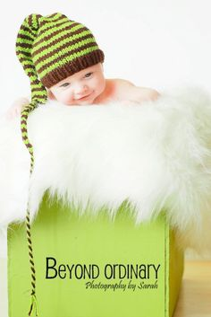 brown and green elf hat by perfectioKnits, via Flickr