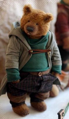 Diy Teddy Bear, Teddy Bear Cartoon, Old Teddy Bears, Vintage Teddy Bears, Teady Bear, Teddy Bear Pictures, Bear Doll, Felt Animals, Kawaii