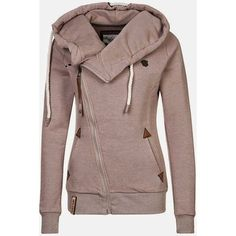 $19.93 Casual Style Solid Color Long Sleeves Hoodie For Women