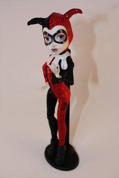 Harley Quinn Doll Repaint by Faun-Fairy on DeviantArt