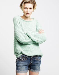 THE JULIA SWEATER.  All kinds of patterns check it out ...www.woolandthegang.com