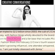 Look who was featured in Fast Company today alongside our girl Jenna Lyons!