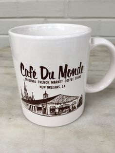 vintage Café Du Monde coffee mug, New Orleans souvenir, French Market coffee by MotherMuse on Etsy