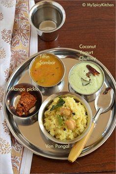 15 best tamil nadu food recipes images on pinterest tamil nadu ven pongal tiffin sambar thenghai thayir pachadi from tamil nadu forumfinder Images