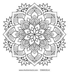 Find Flower Mandalas Vintage Decorative Elements Oriental stock images in HD and millions of other royalty-free stock photos, illustrations and vectors in the Shutterstock collection. Mandalas Drawing, Mandala Coloring Pages, Mandala Painting, Coloring Book Pages, Dot Painting, Zentangles, Motif Oriental, Oriental Pattern, Mandala Arabe