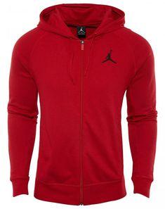 c02d4db88f2496 Jordan Flight Full Zip Hoodie Mens 822658-687 University Red Fleece Hoody  Sz XL  Jordan  Hoodie