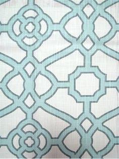 Pavilion Fretwork Tropical Blue P/Kaufmann 100% cotton made in USA $19.95/yd