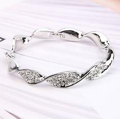 d95b997fe78 Classic Fashion Bangles Cubic Zirconia Rose Gold Zircon Jewelry – glory jewelry  Women's Bracelets, Sterling