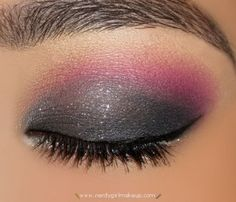 Gray and pink eye shadow..I LOVE this!!