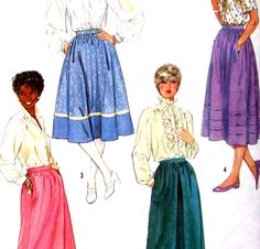 Simplicity 7435 Sewing Pattern Misses Skirts Size 16 Fuss Free Fit