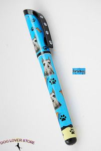 Schnauzer Dog Gel Replaceable Writing Pen Ballpoint Black Ink at www.DogLoverStore.com
