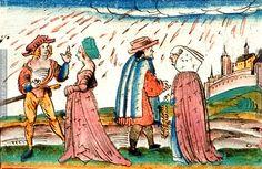 Jakob Mennel. Über Wunderzeichen  1503  Blutregen,Kreuze erscheinen auf Kleidern   Dieses Bild: 006921