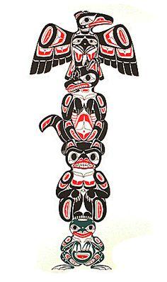 Totem by Richard Shorty – Fish Creek Company Haida Kunst, Inuit Kunst, Arte Inuit, Haida Art, Inuit Art, Haida Tattoo, 1 Tattoo, Native American Totem, Native American Design