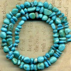 "Castle Dome Turquoise Beads Arizona ""Pinto Valley"" 5 10mm Genuine 16"" Strd 