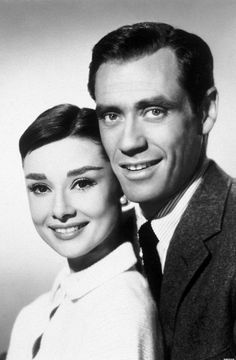 Audrey Hepburn and her husband Mel