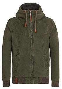 Naketano Men's Jacket Last Don Mede (L, Desert Green