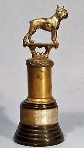 VINTAGE 1930's DODGE INC DOG SHOW TROPHY BOSTON TERRIER BULLDOG ...