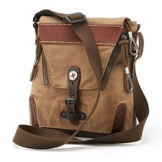 The Same Direction Military-Inspired Leather Hidden Woods Crossbody Bag