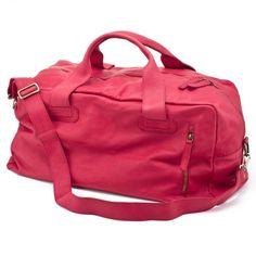 CHISSENE RED TRAVEL BAG-weekender
