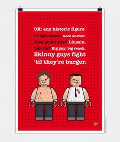 Personagens do cinema e seus diálogos ilustrados em versao Lego - Blue Bus