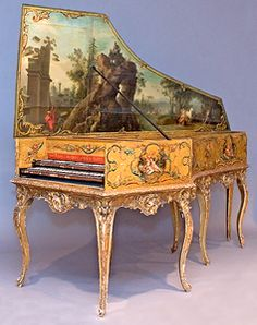 Harpsichord - the electric guitar of the past.  Only rock stars played/play a harpsichord.