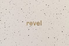 Brand identity and printed stationery for Revel events.