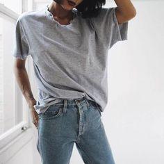 grey t shirt - shirts, boyfriend, christmas, summer, silk, tee shirt *ad