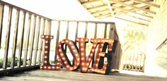 Vintage Marquee Lighted Signs are great indoor or outdoor decor!