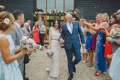 Confetti!!!!  Upwaltham Barns Wedding Photos