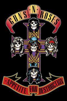 Guns N Roses Appetite for Destruction Music Poster Print, New, 24x36