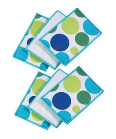 Take a look at this Cool Polk Dot Microfiber Sponge - Set of Six by Polka Dot Delight: Kitchen Accents on #zulily today!