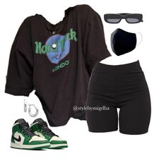 Swag Outfits For Girls, Cute Swag Outfits, Cute Comfy Outfits, Teenager Outfits, Stylish Outfits, Girl Outfits, Summer Swag Outfits, Tomboy Fashion, Teen Fashion Outfits