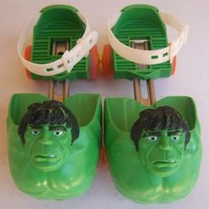 Vintage Original 1979 Marvel Comics Incredible Hulk Children's Roller Skates