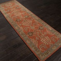 "JaipurLiving Poeme Chambery Orange Rust & Gold Brown Area Rug Rug Size: 9'6"" x 13'6"""