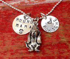 Bassett Hound Dog Necklace.  Bassett hound Jewelry. Pet by tagsoup, $18.00