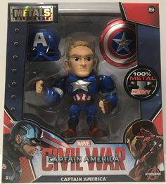 This just in at The Angry Spider Vintage Toy Store: TAS038742 - 2016 ...  Check it out here! http://theangryspider.com/products/tas038742-2016-jada-toys-die-cast-civil-war-6-captain-america-m56?utm_campaign=social_autopilot&utm_source=pin&utm_medium=pin